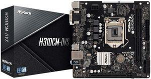 Материнская плата Asrock H310CM-HDV <Socket-1151v2, Intel H310C, 2xDDR4, PCI-E+ PCI-E 16x, 4xSATA, H
