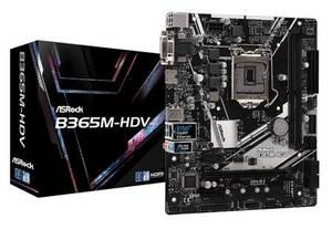 Материнская плата Asrock B365M-HDV <Socket-1151v2, Intel B365, 2xDDR4, 2xPCI-E+ PCI-E 16x, 6xSATA (R