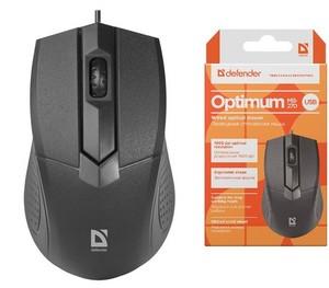 Мышь Defender Optimum MB-270 черный [52270]
